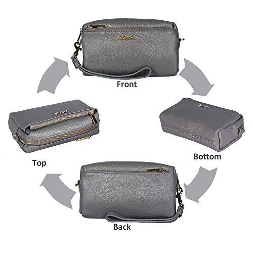 Belfen, Borsa a tracolla donna dark grey bag dark grey bag
