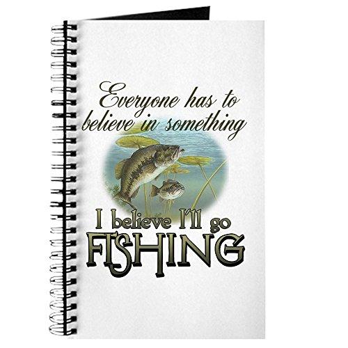 CafePress–Believe In Fischerei–Spiralbindung Notizbuch, persönliches Tagebuch, Dot Grid (Bass-fischen-shirt)
