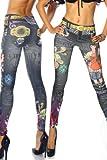 Damen Leggings, Leggins, Hose Tattooleggins, von Hot-Fashion, SS-12300, Bunt, OS