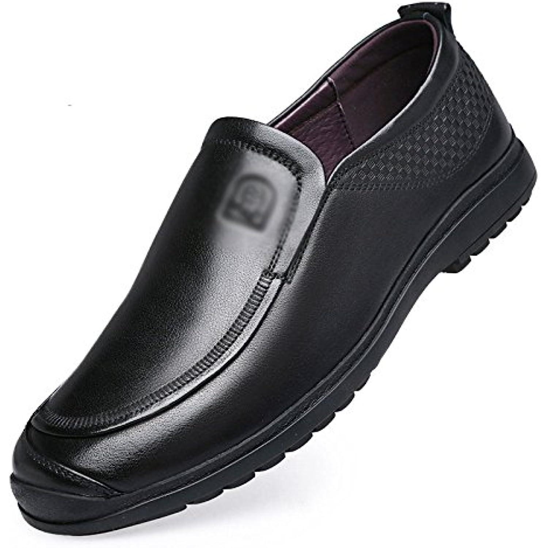 LYZGF Hommes Gentleman Chaussures Business Casual Mode Moyen-Âge Paresseux en Cuir Chaussures Gentleman - B07CP6GJ8V - d0e98e