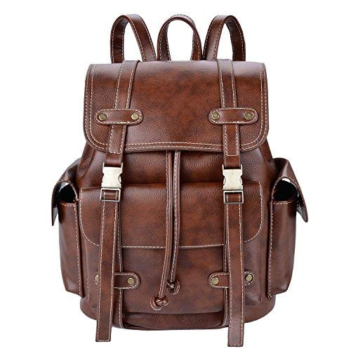 Borsa zaino,coofit zaini ecopelle vintage casual zainetto donna zaino backpack zaini per la scuola