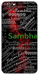 Sambha (Shining) Name & Sign Printed All over customize & Personalized!! Protective back cover for your Smart Phone : Samsung Galaxy E-7