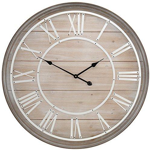 Horloge murale - Bois - D 80 cm
