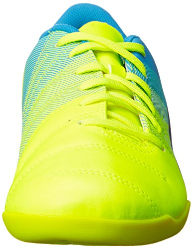 Puma Evopower 4.3 It Damen Hallenschuhe Gelb (safety yellow-black-atomic blue 01)