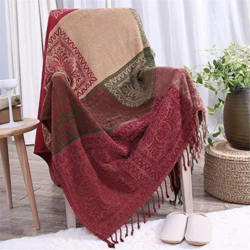 Sofadecke Multifunktions Dekorative Decke Sofa Handtuch Baumwolle Warme Schonbezug Home Chic Multicolor Dekorative Lap Throw Quilt Für Bett Couch Sofa (Color : Multi-Colored, Size : 210cm*250cm) -