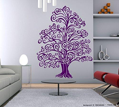 Curvi Albero Magico-Adesivo da parete, motivo rami albero tree Ortensia (Ortensia Albero)