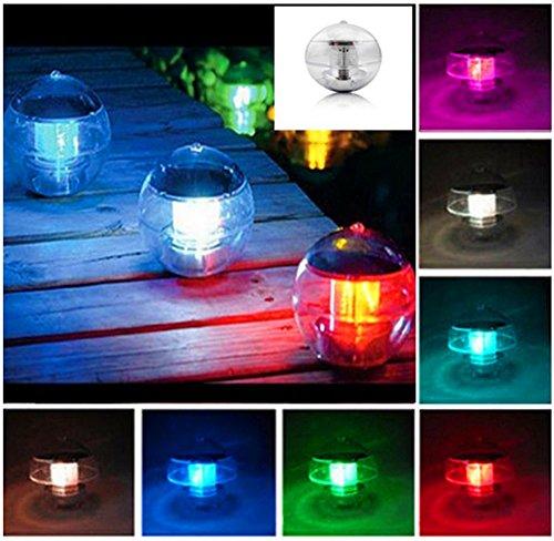 Saflyse 4pcs Solar LED Schwimmkugel Wasserlicht Kugelleuchte Solarkugeln Farbwechsel Schwimmleuchte Set - Gartenlampe (4PCS )