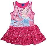 Frozen Kleid Die Eiskönigin Kollektion 2017 Sommerkleid 98 104 110 116 122 128 Mädchen Disney Strandkleid Anna und Elsa (110 - 116; Prime, Fuchsia)