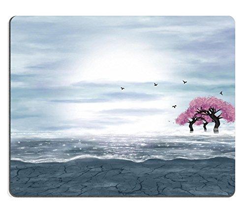 liili-mouse-pad-natural-rubber-mousepad-image-id-23487913-paesaggio-di-fantasia-in-blu-e-grigio-colo