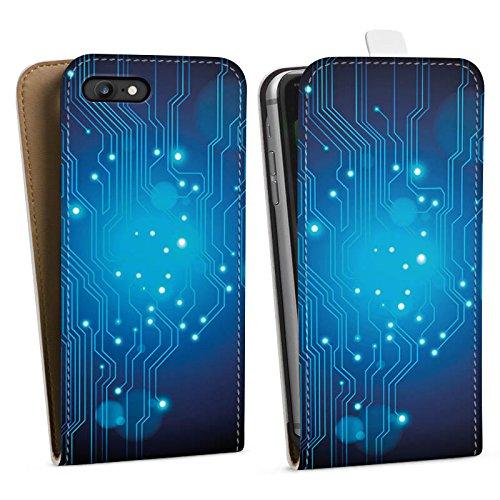Apple iPhone X Silikon Hülle Case Schutzhülle Platine Digital Elektro Downflip Tasche weiß