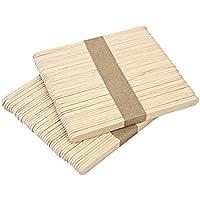 100 unidades de palos de palos de palo de palo de palo de madera para plantas, Diligenciador, crema de hielo de madera natural, varillas de crema de hielo para niños, manualidades, crema de hielo Wood_65mm