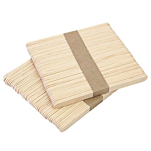 100 Stück Holz-Lutscher-Popsicle Sticks, natürliche diligencer Eiscreme-Sticks für Kinder, aus Holz, Handwerk, DIY Eis Popsicle Sticks Wood_65mm (Handwerk Holz-sticks)