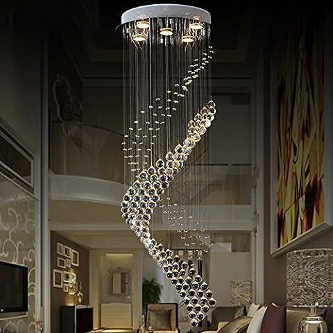 Lampe suspendue à LED de simplicité moderne Lampe suspendue ronde en dentelle créative Hôtel Villa Long Chandelier