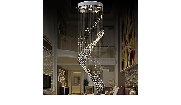 Kronleuchter Modern Edelstahl ~ Fyn moderne einfachheit led kristall hängelampe runde duplex