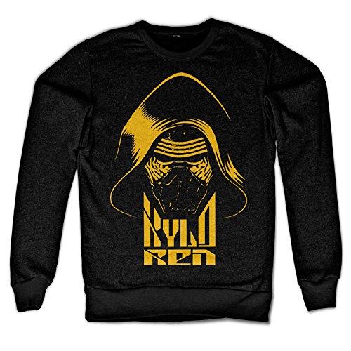 STAR WARS Officiellement Marchandises sous Licence Kylo Ren LS Sweatshirt (Noir), Large
