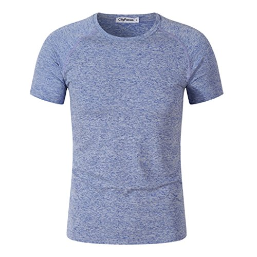 MTTROLI Herren T-Shirt, ❤❤the T Shirt is Asian Size, So Please Choose Larger Size Than You Wear Now.thanks, blau, CF310 (Sleeve Logo Long Thermal Tee)
