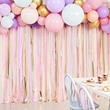 Ginger Ray Pastel Streamer and Balloon Party Backdrop Mix it Up