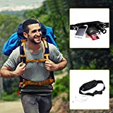 Sport Hüfttasche, Flycool Laufgürtel elastische Gürteltasche Bauchtasche Running Belt mit Kopfhöreranlass für Handy und Reflexstreifen für Nachtsichtbarkeit - 8