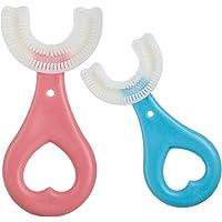 Brosse à dents manuelle pour enfants - Jolies brosses à dents en forme de U - Pour entraînement des enfants de 2 à 6 ans…