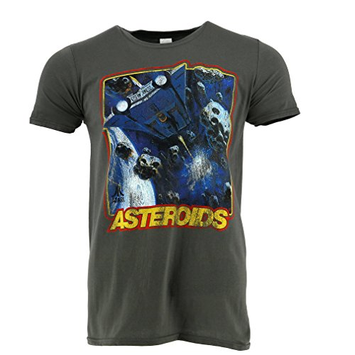 Atari Asteroids Grey T-shirt Officially Licensed - S to XXL