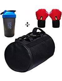 SOOPLE SPORTZ Gym Bag Combo Set Enclosed With Soft Leather Gym Bag For Men And Women For Fitness - Bag Size 49cm... - B07CSP9VZG