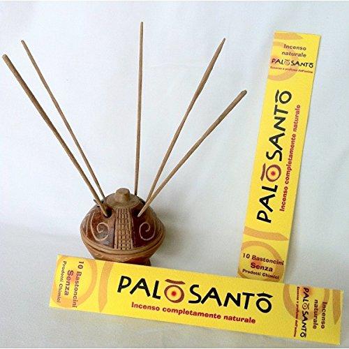 10 stick incenso naturale palo santo