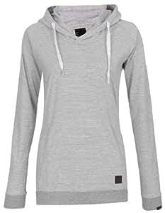 FORVERT Damen Longsleeve Hood Hilgi, grey-white, XS, 441769