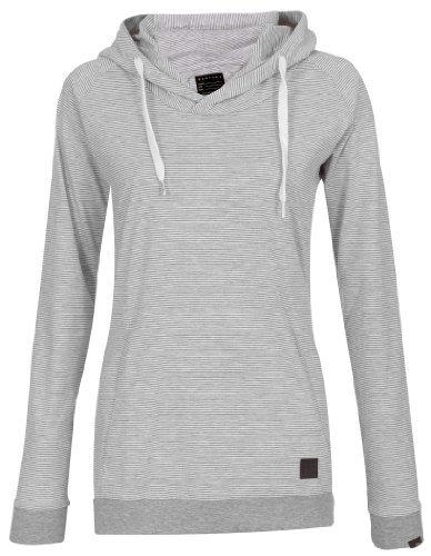 Forvert Sweat-shirt à capuche Hilgi pour femme Gris Gris/blanc