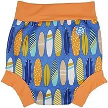 Splash About Happy Nappy, Pañal de natación para Bebé, Multicolor (Surfs Up), Medium (3-8 Meses)