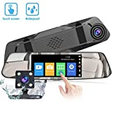 Cámara de Coche Dash - VGROUND Camara de Coche Retrovisor 4,8 Pulgadas Touch Screen 1080P Front Cam y 720P Waterproof Night Vision Video Recorder Vista Posterior Camara Trasera, Coche Dash Cam Kit con Monitor de Estacionamiento, G-Sensor, Grabación de Bucle, Sistema de Monitoreo de Marcha Atrás, Detección de Movimiento