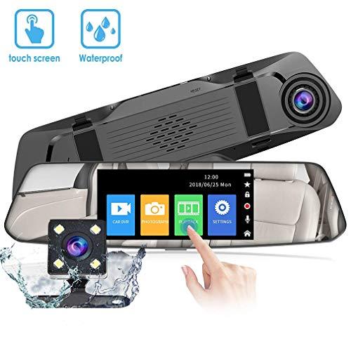 VGROUND Cámara de Coche Dash Camara de Coche Retrovisor 4,8 Pulgadas Touch Screen 1080P Front CAM y 720P Camara Trasera, Coche Dash CAM Kit con G-Sensor, Sistema de Monitoreo de Marcha Atrás