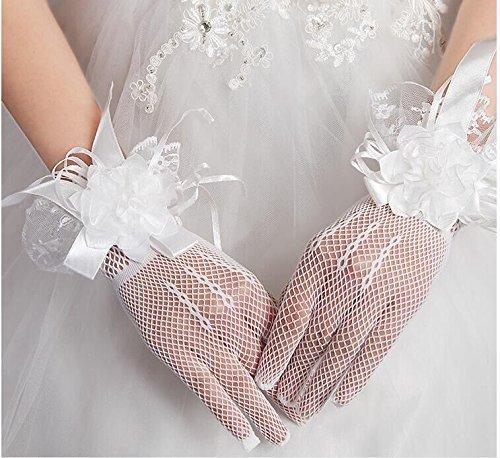 KHSKX-Die Braut Ist Hochzeit Handschuhe Spitzen Kurze Koreanischen Alle Bezieht Sich Auf Rot - Weiße Handschuhe Elastisch Dicke Mm Können Formelle Kleidung AccessoiresWeiße -