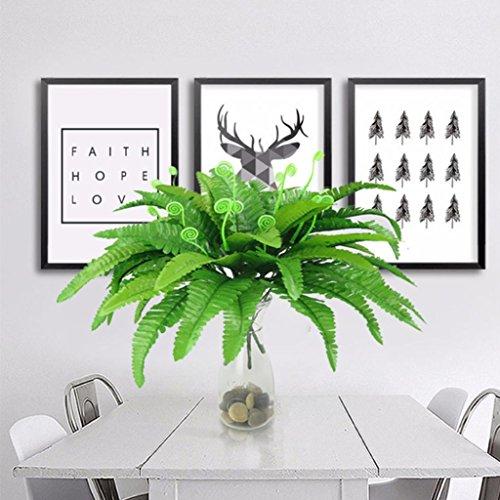 Hearsbeauty Kunstpflanze Persisches Farn für das Büro, Zuhause, im Garten oder als Hochzeitsdeko