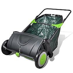 vidaXL Kehrmaschine Rasenkehrmaschine Hofkehrer Laubkehrer Laubsammler 103 L
