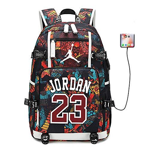 Lorh's store Basketballspieler Star Michael Jordan Multifunktionsrucksack Reisestudent Rucksack Fans Bookbag für Männer Frauen (Stil 6) (Rucksack Bookbag)