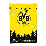 Borussia Dortmund Weihnachtssäkchen, Schwarzgelb, Filz, 70 x 50 cm, BVB-Emblem, Dortmund Skyline One Size