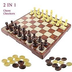 Fixget 2 in 1 Chess Set sono progettati per combinare l'apprendimento con divertimento. Dai Rainbow Kites dai colori vivaci ai classici giocattoli in legno come lo Xilofono e l'Abaco di legno, ai fantastici Cube, Cuby e Carbon Fiber Cube, Fixget vuol...