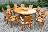Table-de-jardin-avec-plateau-tournant-pica-pour-10-personnes--Massive-en-bois-naturel-avec-Cranter-Meubles-de-jardin-en