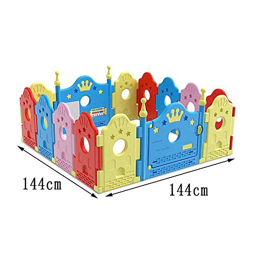 GYH Safety Fence,Indoor And Outdoor Playpens Room Dividers Children's Crawling Fence Safety Fence ( Size : 144*144cm )  Gao Yuan Hong Shop