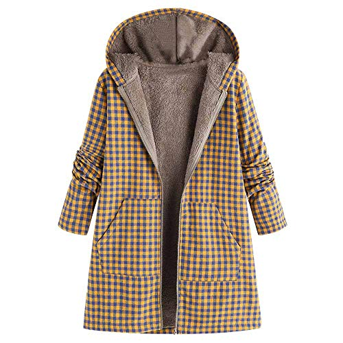 Damen Winterjacke UFODB Frauen Hoodie Mantel Leinen Nationaler Stil Drucken Slim Fit Plus Samt Mit Kapuze Freizeitjacke Coat Sweatjacke Outwear Trenchcoat M-5XL