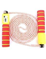 QYY Einstellbar Kinder Springseil, Springseil Speed Rope mit Zähler Und Komfortablen & Anti-Rutsch Griffen für Fitness