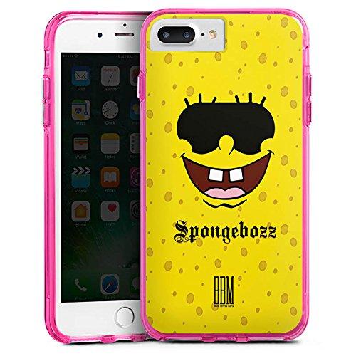 Apple iPhone 6s Plus Bumper Hülle Bumper Case Glitzer Hülle Spongebozz Bbm Fanartikel Merchandise Bumper Case transparent pink