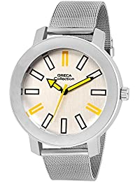 Oreca Analogue White Dial Men's Watch Gt9012