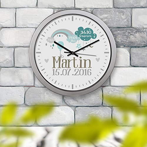 Kinderuhr Kinderzimmeruhr Wanduhr Geburtsuhr Uhr Martin