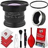 Opteka 15mm F/4 LD UNC AL 1:1 Macro Wide Angle Manual Full Frame Lens + UV For Olympus OM-D E-M1, E-M5, E-M10, Pen E-PL7, E-P5, E-PL5, E-PM2, E-P1, P2, PL1, PL1s And PL2 Digital Cameras (EOS-M43)