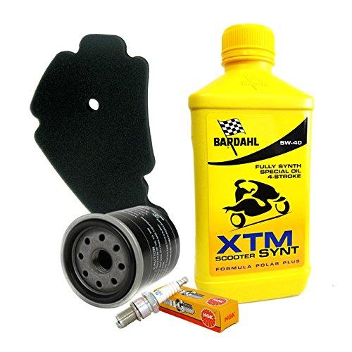 Kit tagliando Bardahl XTM 5W40 filtro olio aria candela Beverly 125/200