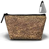 Sparkle Gold Texture Background 3D Digital Printing Waterproof Trapezoidal Bag Cosmetic Bags Makeup Bag Large Travel Toiletry Pouch Portable Storage Pencil Holders