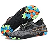 VIFUUR Männer Frauen Aqua Schuhe Quick Dry Water Shoes Outdoor Hallenschuhe für Bootfahren Kajak Tauchen Strand Schwimmen Yoga Grau EU41