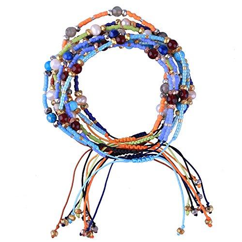 KELITCH Böhmen Quasten Freundschaft Armbänder Perlen Charms Armreifen Neue Schmuck 10 Stück (10 Stück Farbe 12) (Freundschaft Charm Armbänder)