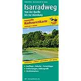 Isarradweg, von der Quelle bis zur Mündung: Leporello Radtourenkarte mit Ausflugszielen, Einkehr- & Freizeittipps, Straßennamen, wetterfest, reissfest, abwischbar, GPS-genau. 1:50000